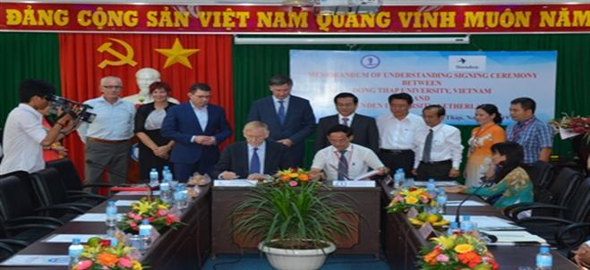 Memorandum of Understanding Signing Ceremony between Dong Thap University and Stenden University of Applied Sciences, the Netherlands