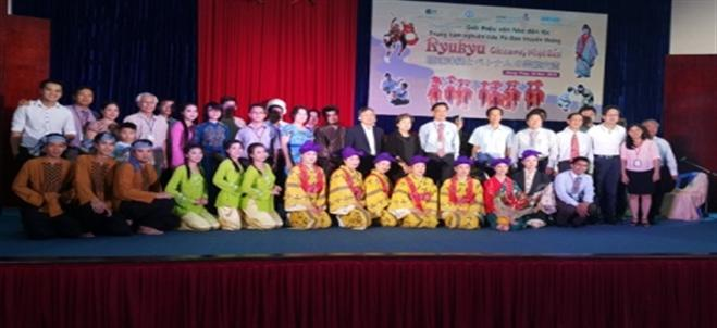 PERFORMING ARTS EXCHANGE PROGRAM BETWEEN DONG THAP UNIVERSITY AND THE TRADITIONAL DANCING RESEARCH CENTER OF RYUKYU, JAPAN