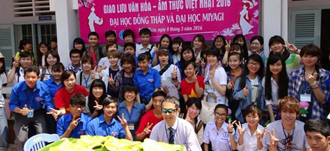 Biannual get-together between the students of Dong Thap University and Miyagi University, Japan
