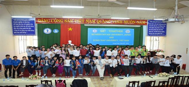 The 4th Get-together between the students of Dong Thap University and Miyagi University, Japan